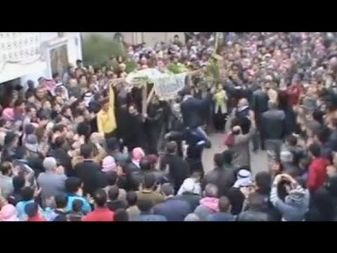 Syria: Protest sit-in as Arab monitors tour Homs