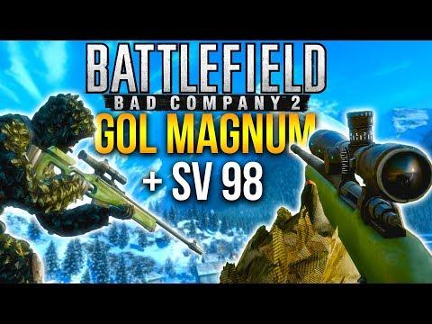 AGGRESSIVE SNIPING Battlefield Bad Company 2 (Gol Magnum + SV98 Sniper)