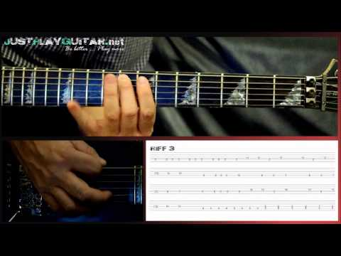 [ BULLET FOR MY VALENTINE - Tears don't fall ] How to play part 2/2 [ free guitar lesson ] with tabs