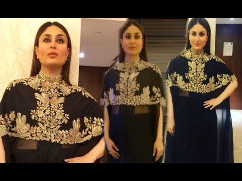caed15eb521 Kareena Kapoor Hot In Black Dress In Kolkata - YouTube