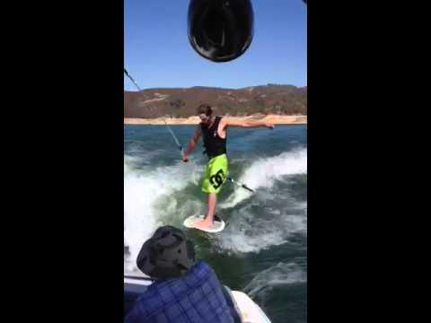 Wake surfing a DD