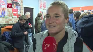 Desiree van Lunteren na Nederland-Zwitserland