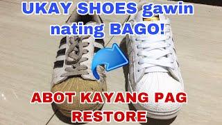 UKAY SHOES RESTORATION | Adidas Superstar | PAANO PAPUTIIN ANG SAPATOS | From basura gawing BAGO