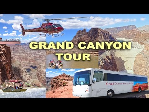 GRAND CANYON TOUR - Skywalk, Guano Point, Hoover Dam, Helicopter and Boat Trip 4K