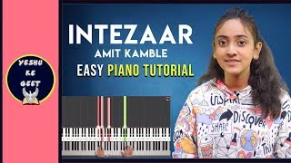 Intezaar- Amit kamble | Easy Piano/Keyboard Tutorial | Yeshu Ke Geet | Hindi Christian Songs