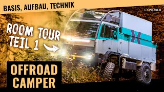 Expeditionsmobil Eigenbau! Offroad Wohnmobil Room Tour [Teil 1/2]