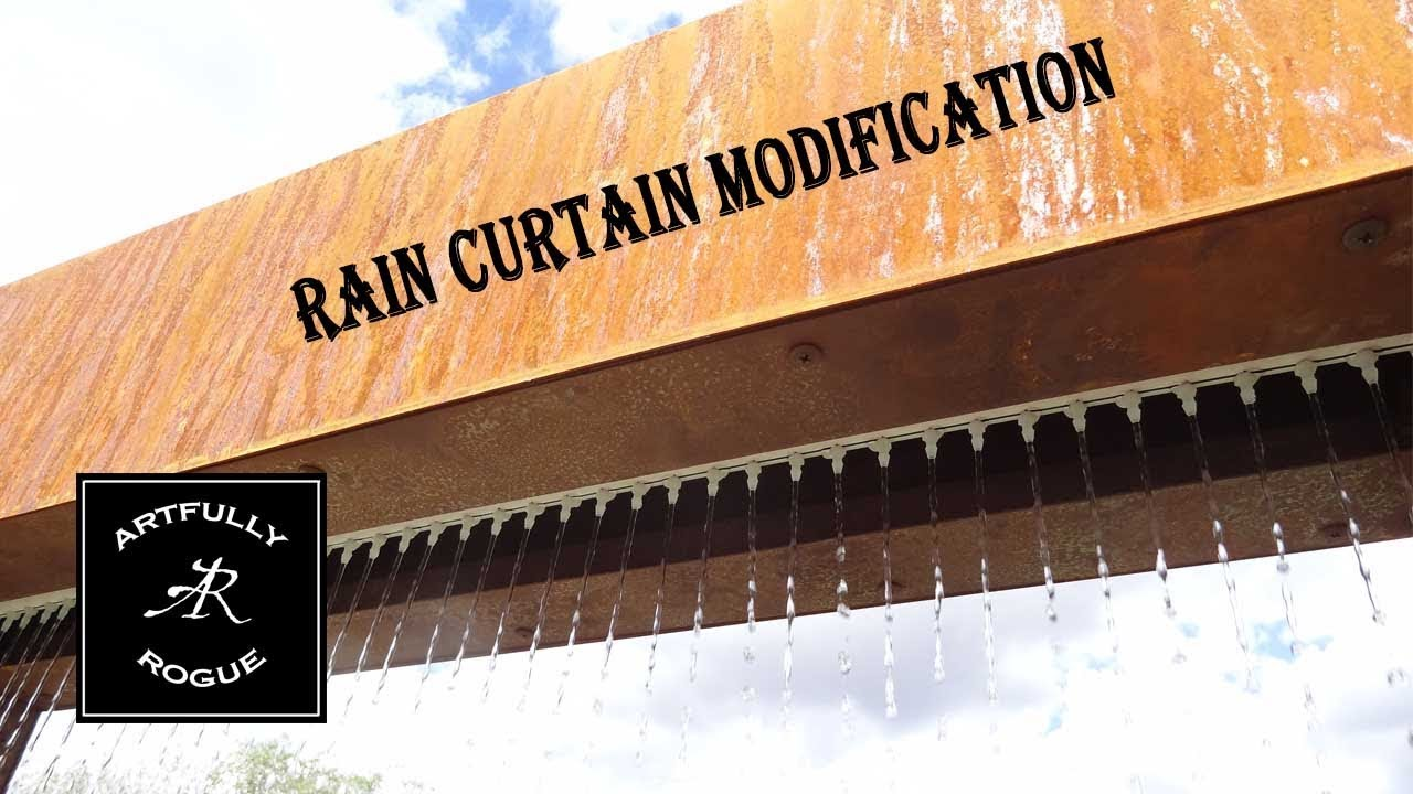 indoor rain curtain water feature ideas