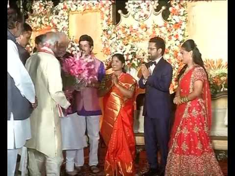 PM Narendra Modi Attends Central Minister Dattatreya Daughter Marriage