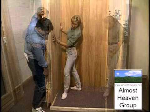 Almost Heaven\'s Heavenly Pre-Built Sauna - YouTube