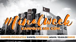 Karabük Üniversitesi VLOG   Finaller, Kampüs, Kütüphane, Sohbet, YouTube Türkiye, MackBear Coffe