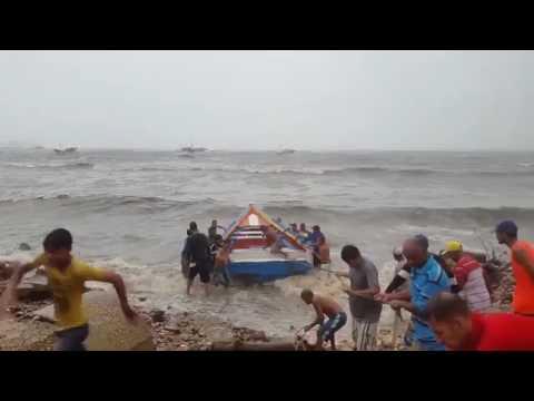 Boats Damaged as Storm Bret Hits the Coast of Nueva Esparta