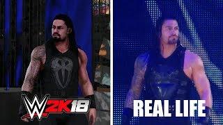 WWE 2K18 VS REAL LIFE - ROMAN REIGNS ENTRANCE COMPARISON