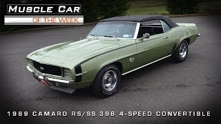 Muscle Car Of The Week Video #34: 1969 Camaro RS/SS396 Convertible
