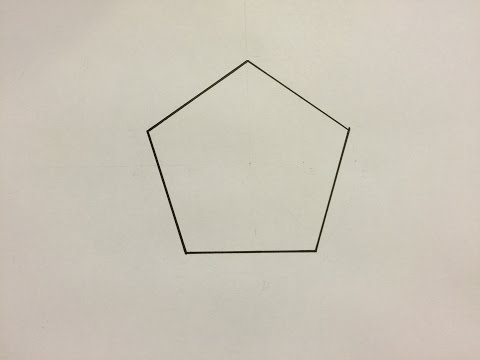 Comment Dessiner Un Pentagone - How To Draw A Pentagon.