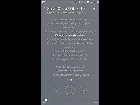 Cara menambahkan lirik lagu di musik player