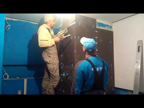 Bathroom walls and niches with LED lighting Part 1