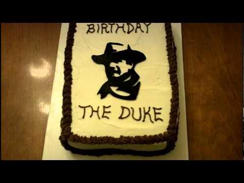 John Wayne Birthday Cake The Duke Turtorial Youtube
