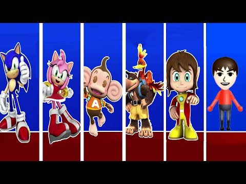 Sonic & SEGA All-Stars Racing - All Characters