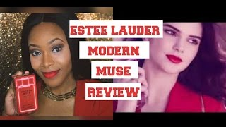 Kendall Jenner| Modern Muse Le Rouge Gloss Perfume Review | Estee Lauder | Red Lips