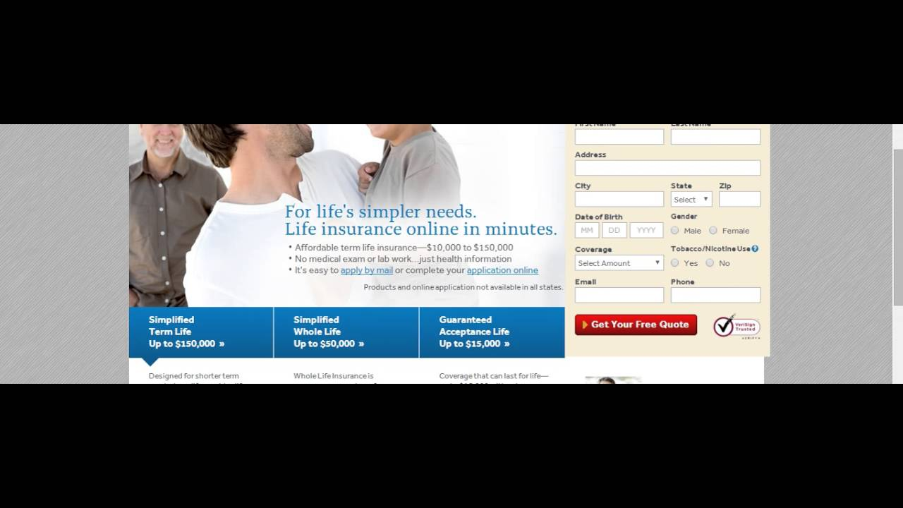 Select A Quote Life Insurance Angel Care Life Insurance For Seniors  Youtube