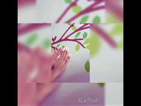 Aliah Merck And Her Elegant Pretty Natural Long Nails (video 5)