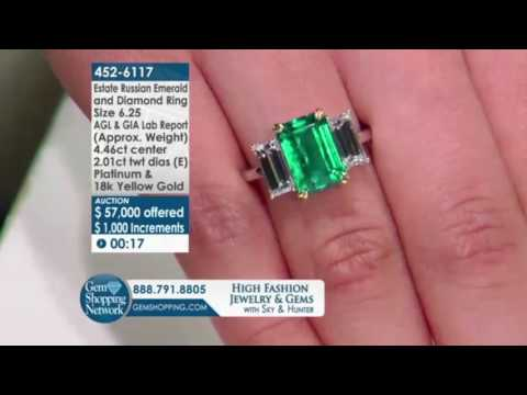 Live Auction - Estate Russian Emerald Ring l Gem Shopping Network