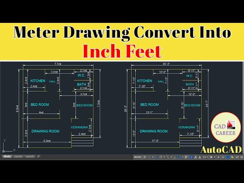 how-to-convert-autocad-meter-drawing-into-inch-feet-drawing-|-cad-career