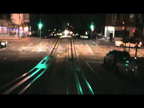 A nighttime ride on the Powell-Hyde Cable Car (San Francisco)