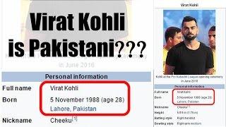 Virat Kohli Pakistani, Wikipedia showing on its site   Oneindia News