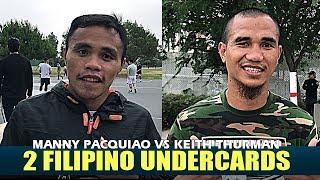 INSON & LIBRANZA   Filipino Fighters in the Pacquiao vs Thurman UNDERCARD