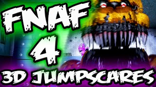 FNAF 4 Jumpscares in 3D | FNAF 4 Little Big Planet 3 Five Nights at Freddy's 4 Jumpscare
