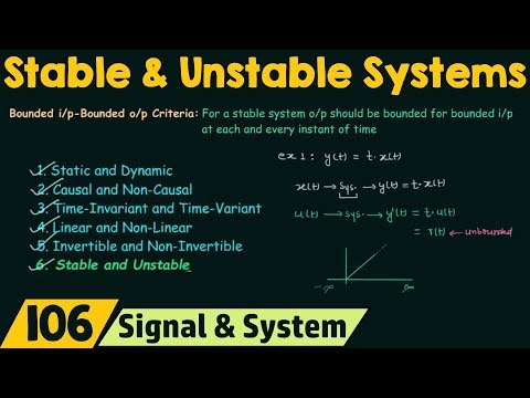 Stable and Unstable Systems