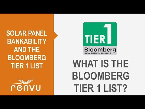 Solar Panel Bankability and the Bloomberg Tier 1 List Overview - Updated   RENVU