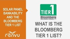 Solar Panel Bankability and the Bloomberg Tier 1 List Overview - Updated | RENVU
