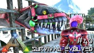 ark survival evolved perfect 120 tamed plesiosaur baby season 3 s3 e40 gameplay