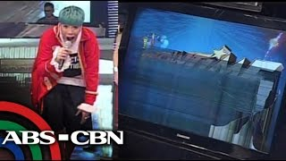 Vice Ganda breaks TV screen on It