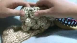 How to Loom Knit the Crocodile Stitch