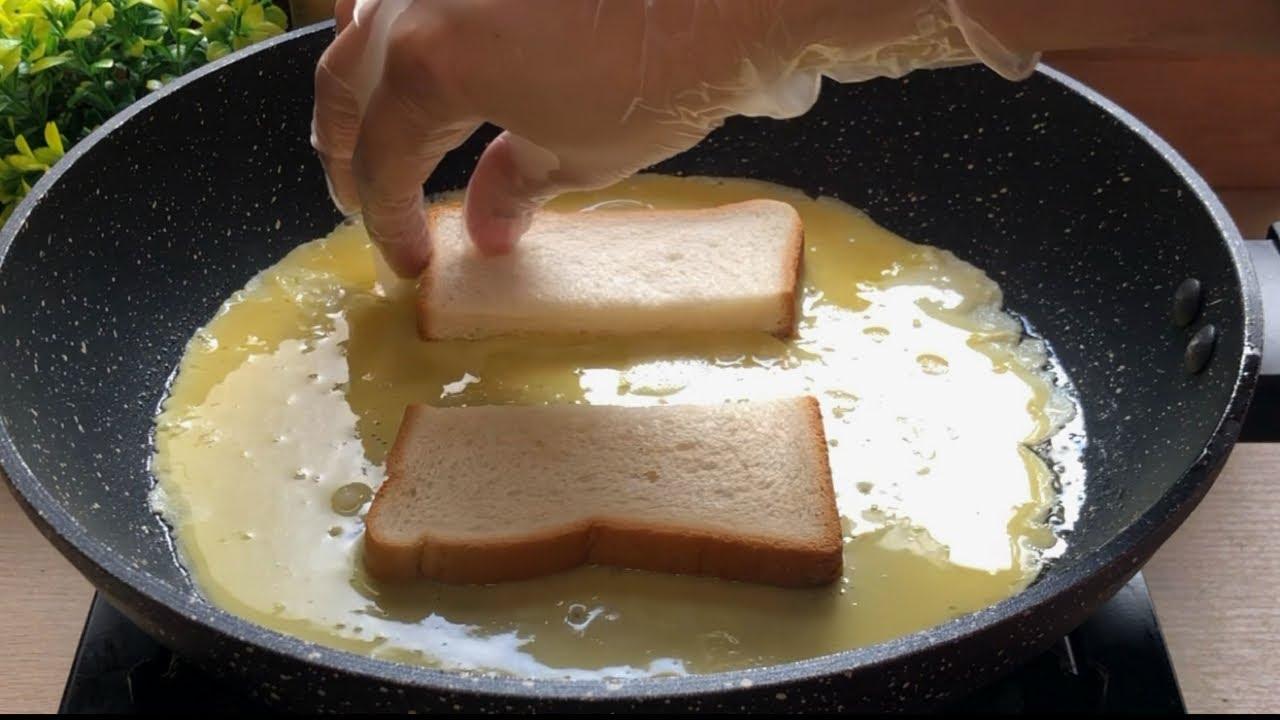 10 Minutes Recipe - Quick & Easy Breakfast Recipe - One Pan Egg Toast