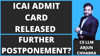 ICAI ADMIT CARD | ICAI ANNOUNCEMENT | CA EXAM | ICAI EXAM UPDATE | ICAI LATEST ANNOUNCEMENT | UPDATE