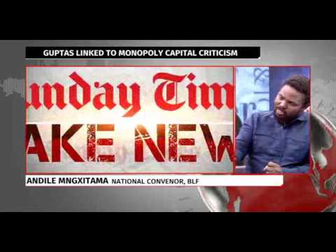 ANDILE MNGXITAMA, BLF RESPONDS TO SUNDAY TIMES STORY