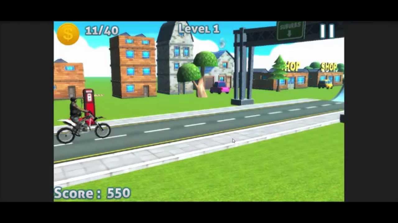 Bike Racing Physics Game Source Code Unity Easy Lawnmower