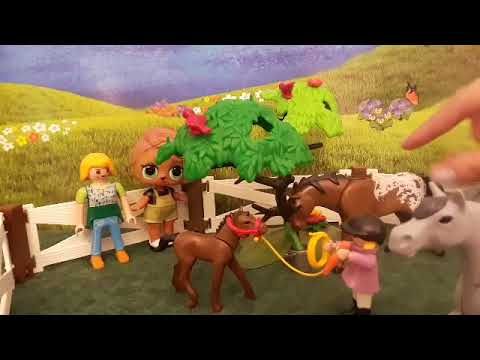 Playmobil horse paddock unboxing with Burger Babe