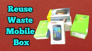 Reuse Waste Mobile Box/best out of old mobile box