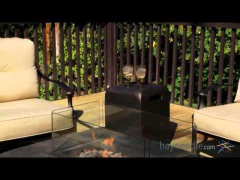 Palazetto Milan Cast Aluminum Fire Pit Chat Set - Seats 4 - Product Review Video