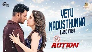 Action Telugu Movie | Yetu Nadusthunna Lyric | Vishal, Tamannaah | Hiphop Tamizha | Sundar.C