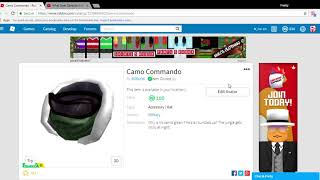 ROBLOX NEUE LIMITED CAMO COMMANDO! (PICK IT UP JETZT HAT ES POTENZIAL)