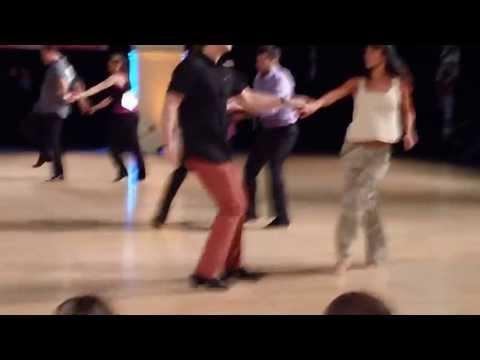 Jordan Frisbee Strip-Off (Wardrobe Malfunction) w Jessica Cox. Swing Diego 2013.