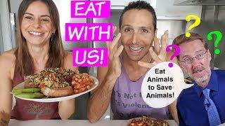 Save animals without going veg? Eat beef, not chicken | Response & MUKBANG