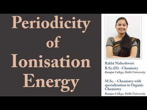 [Hindi] Periodicity of Ionisation Energy (a.k.a. Enthalpy of Ionization)
