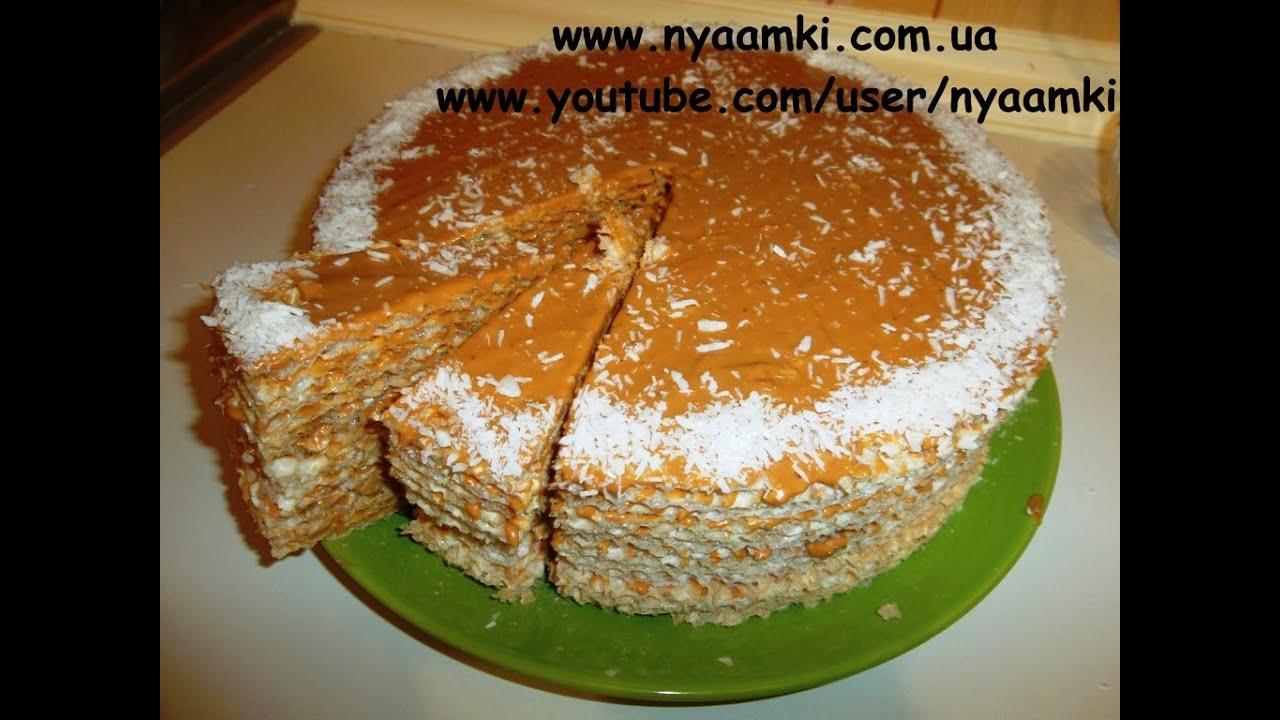 как приготовить листовые вафли для торта